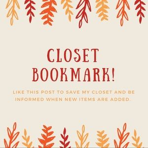 Other - Closet bookmark! New listings added!